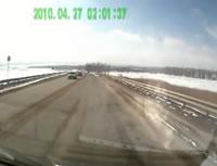 高速で正面衝突事故