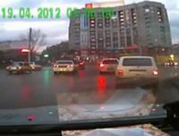 路面電車と車の衝突事故