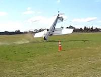 軽飛行機 着陸失敗