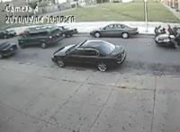 盗難車で激しく衝突事故