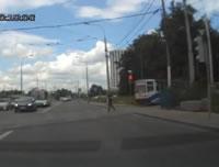 路面電車と接触事故
