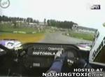 レースで正面衝突事故映像