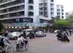 中国のある交差点
